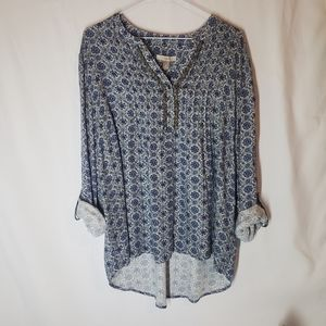 Roz & Ali country style blouse with beaded accent